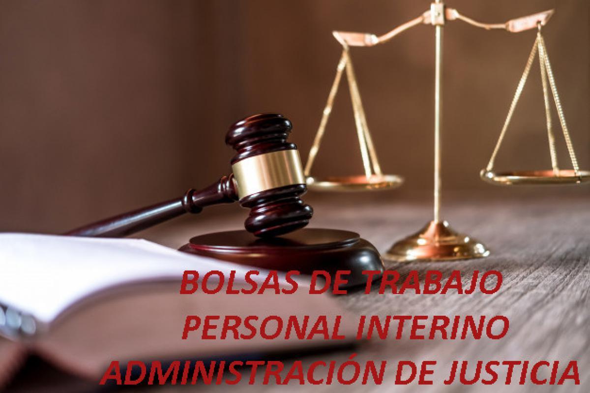 Bolsas de personal interino Justicia